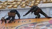 Монтаж и демонтаж рекламных баннеров,  букв,  подсветка здания